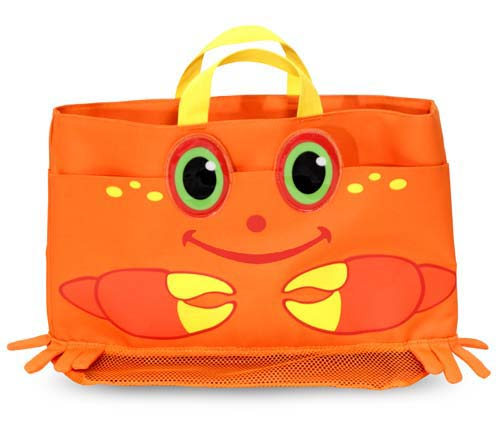 Kids Beach Tote with Toys Crab Kids Beach Tote Bag