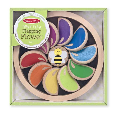 Melissa & Doug - Flapping Flower Clacking Baby & Toddler Toy