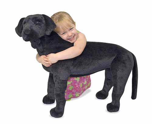 Melissa & Doug Black Lab Giant Stuffed Animal