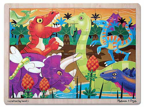 Melissa & Doug Prehistoric Sunset Wooden Jigsaw Puzzle - 24 Pieces