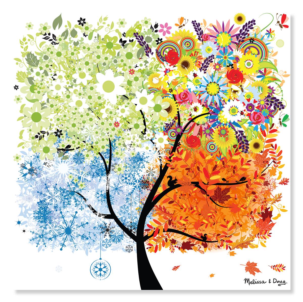 Melissa & Doug - Seasons Tree Cardboard Jigsaw - 200 Pieces