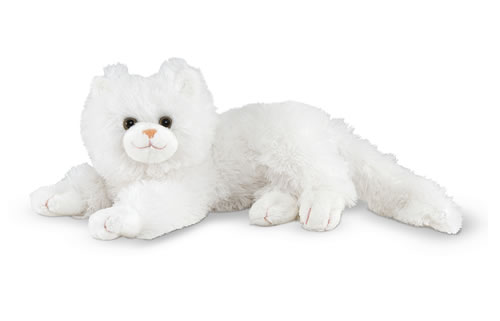 Melissa and Doug Flossie White Cat Stuffed Animal