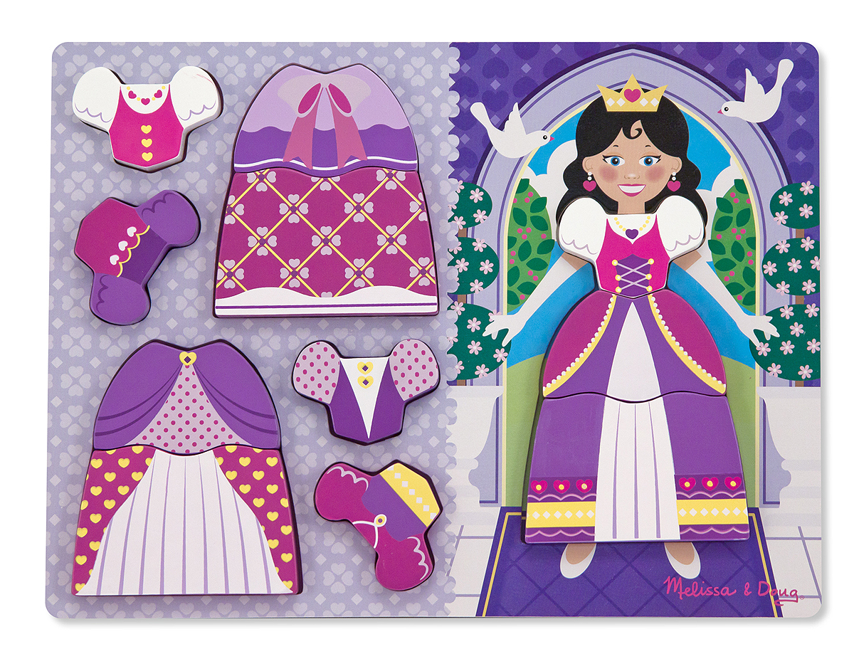 Melissa and Doug Princess Dress-Up Chunky Puzzle – 11 pieces