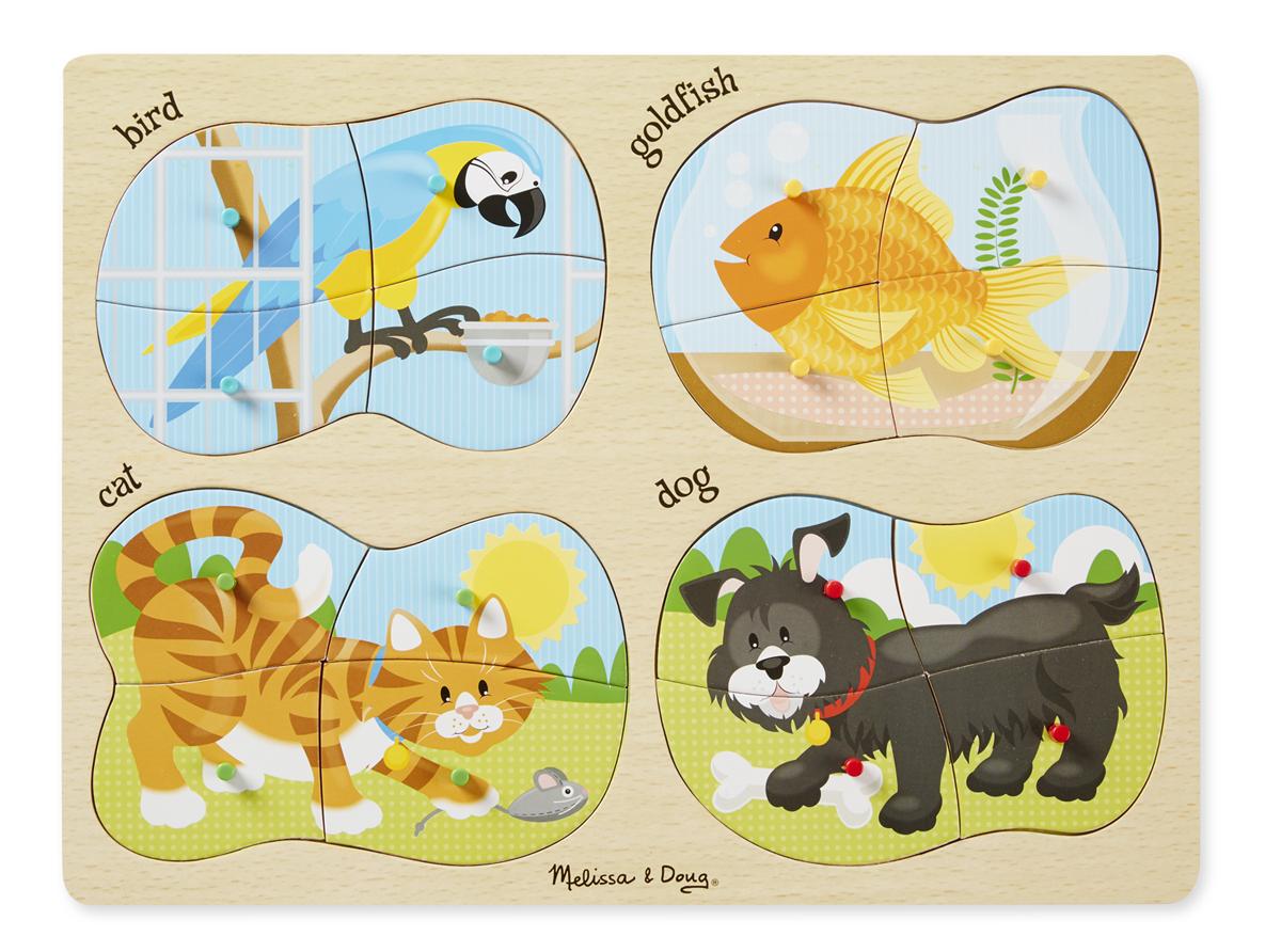 Melissa & Doug - 4-in-1 Peg Puzzle - Pets