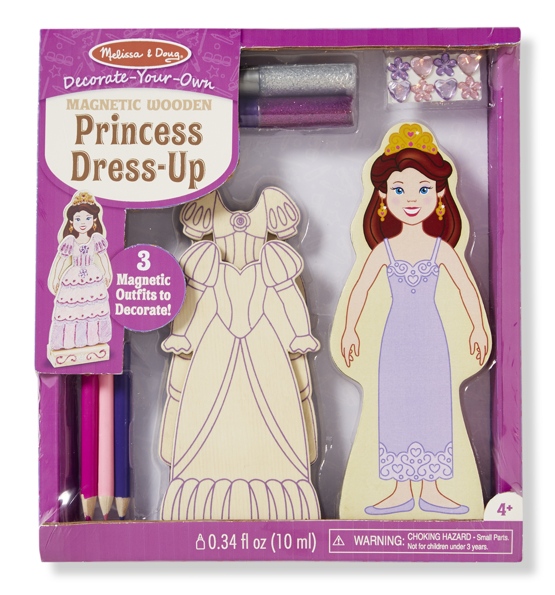 Melissa & Doug - Decorate-Your-Own Wooden Magnetic Princess Dress-Up