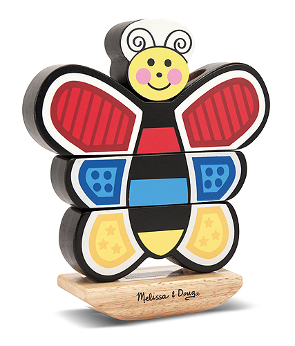 Melissa & Doug Butterfly Stacker Toddler Toy 2166
