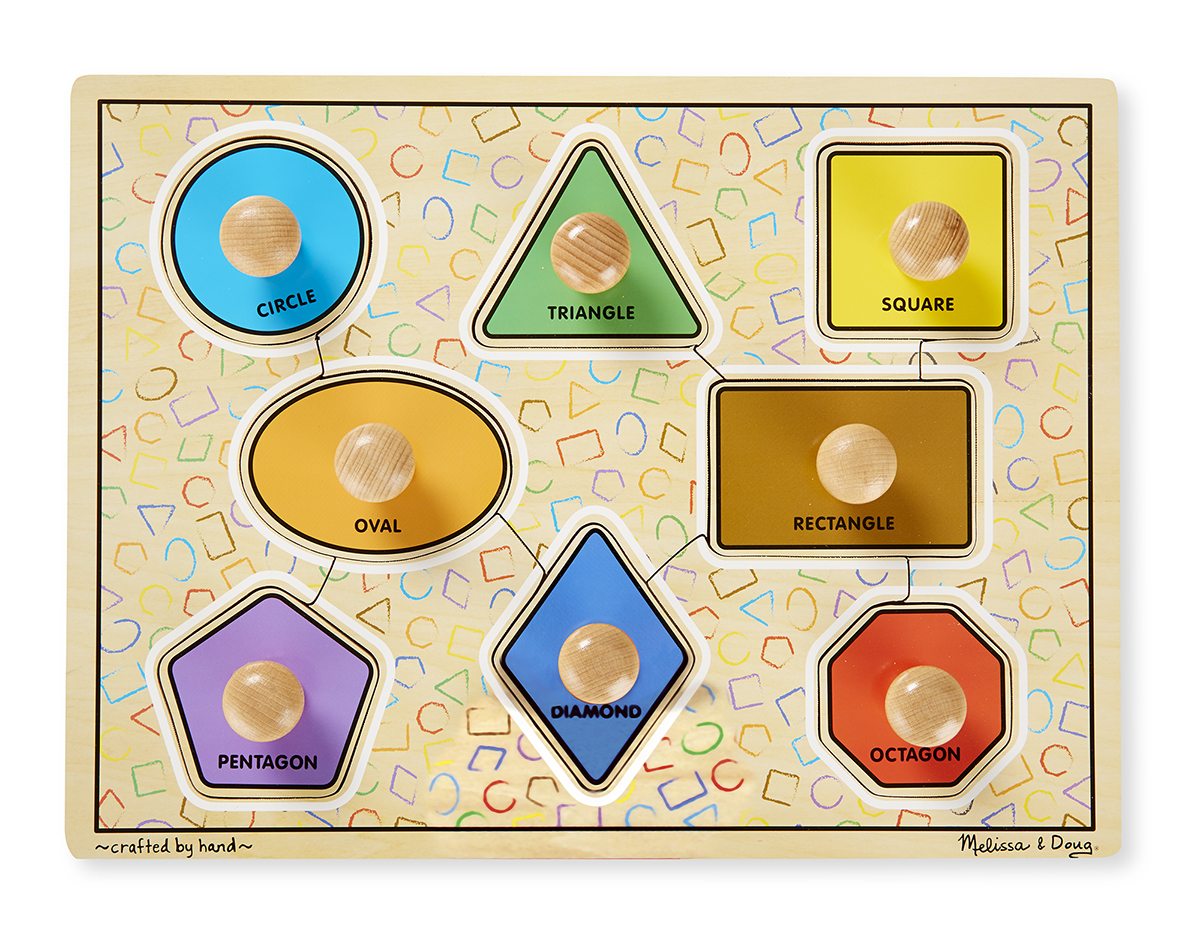 Melissa and Doug Large Shapes Jumbo Knob Puzzle - 8 pieces