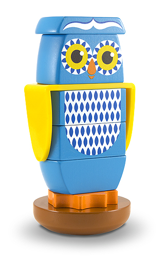 Melissa & Doug Wooden Owl Stacker Toddler Toy 2168