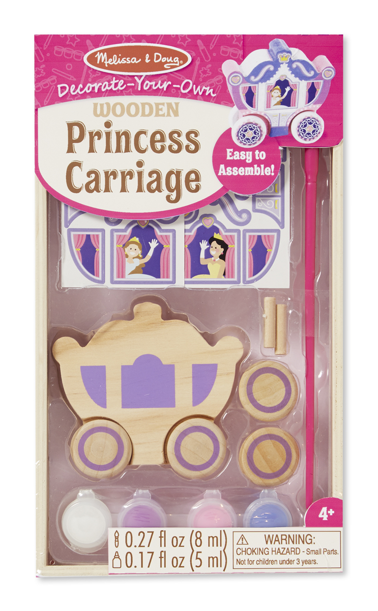 Melissa & Doug - Decorate-Your-Own Wooden Princess Carriage