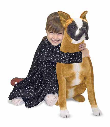 Melissa & Doug Boxer Dog Giant Stuffed Animal