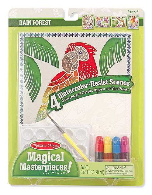 Melissa and Doug Magical Masterpieces – Watercolor Resist – Rain Forest