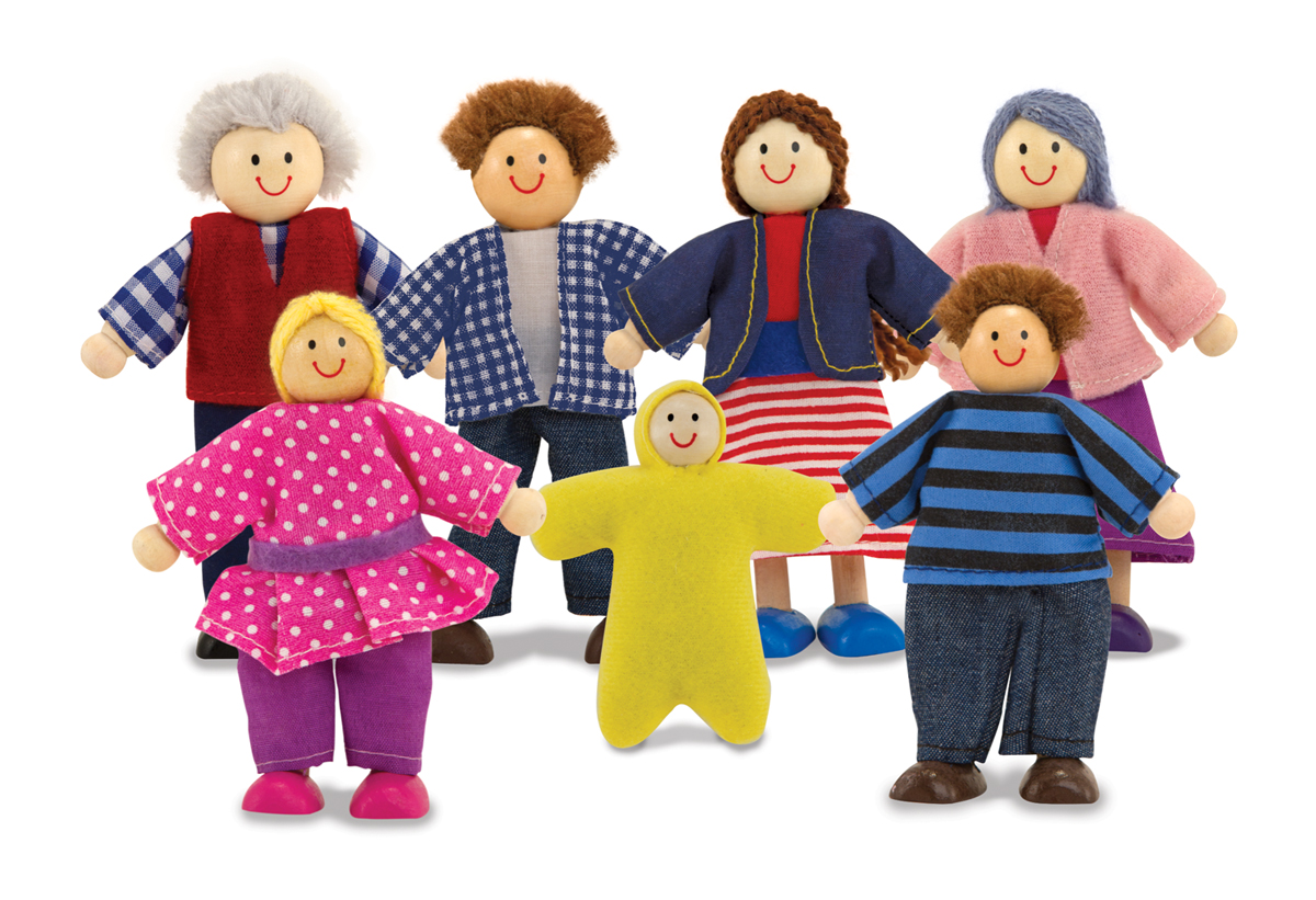 Wooden Doll Family New Melissa And Doug