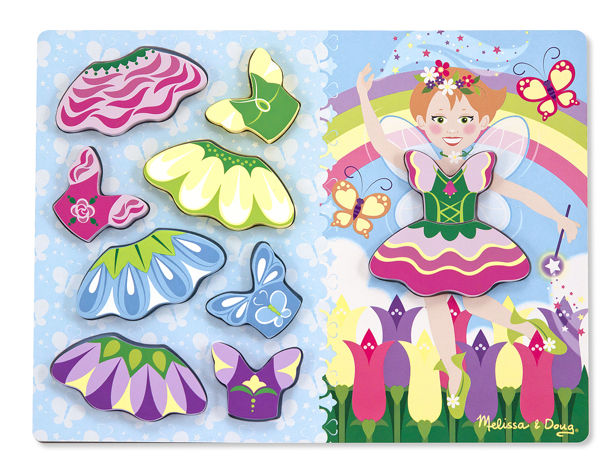 Melissa and Doug Fairy Dress-Up Chunky Puzzle – 10 pieces