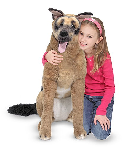 Melissa & Doug German Shepherd Giant Stuffed Animal