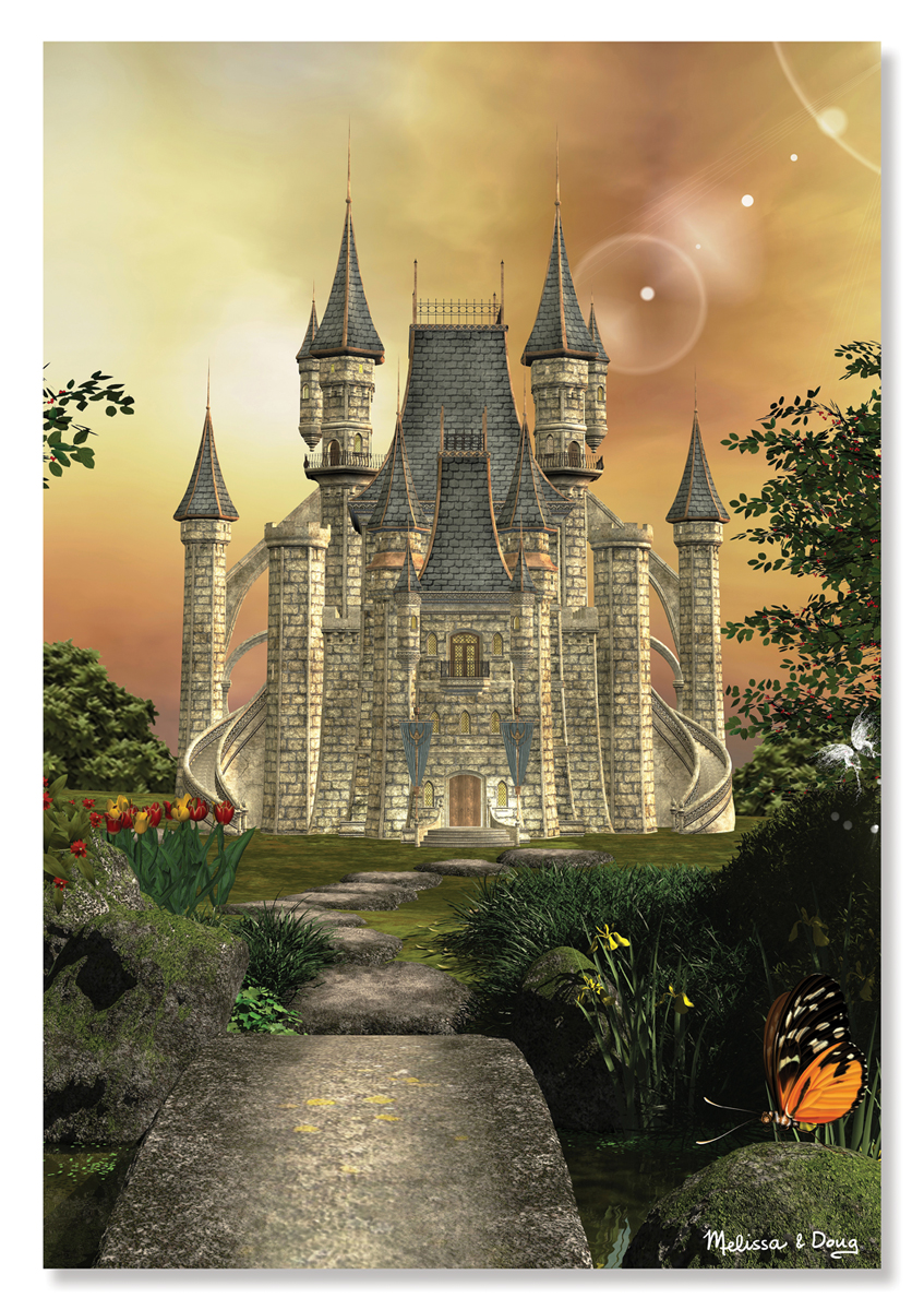 Melissa & Doug - Towering Castle Cardboard Jigsaw - 200 Pieces