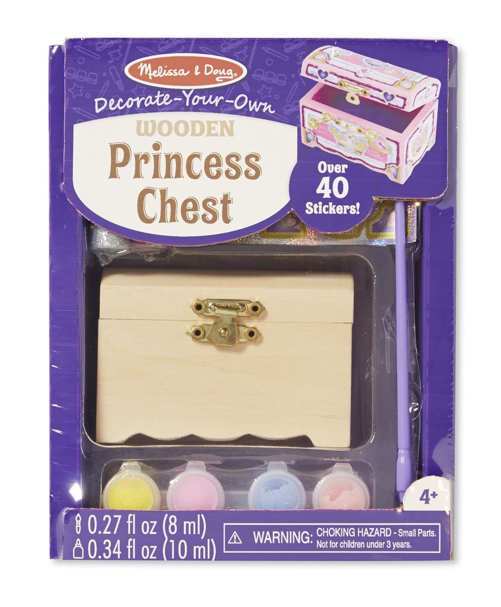 Melissa & Doug - Decorate-Your-Own Wooden Princess Chest