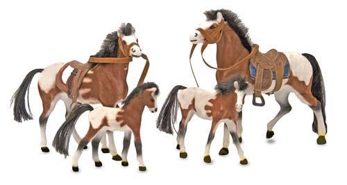 Melissa & Doug Collectible Horse Family Play Set 2238
