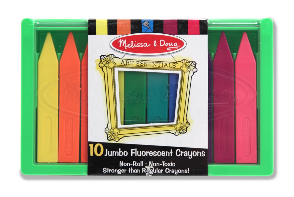 Melissa and Doug Jumbo Fluorescent Crayon Set
