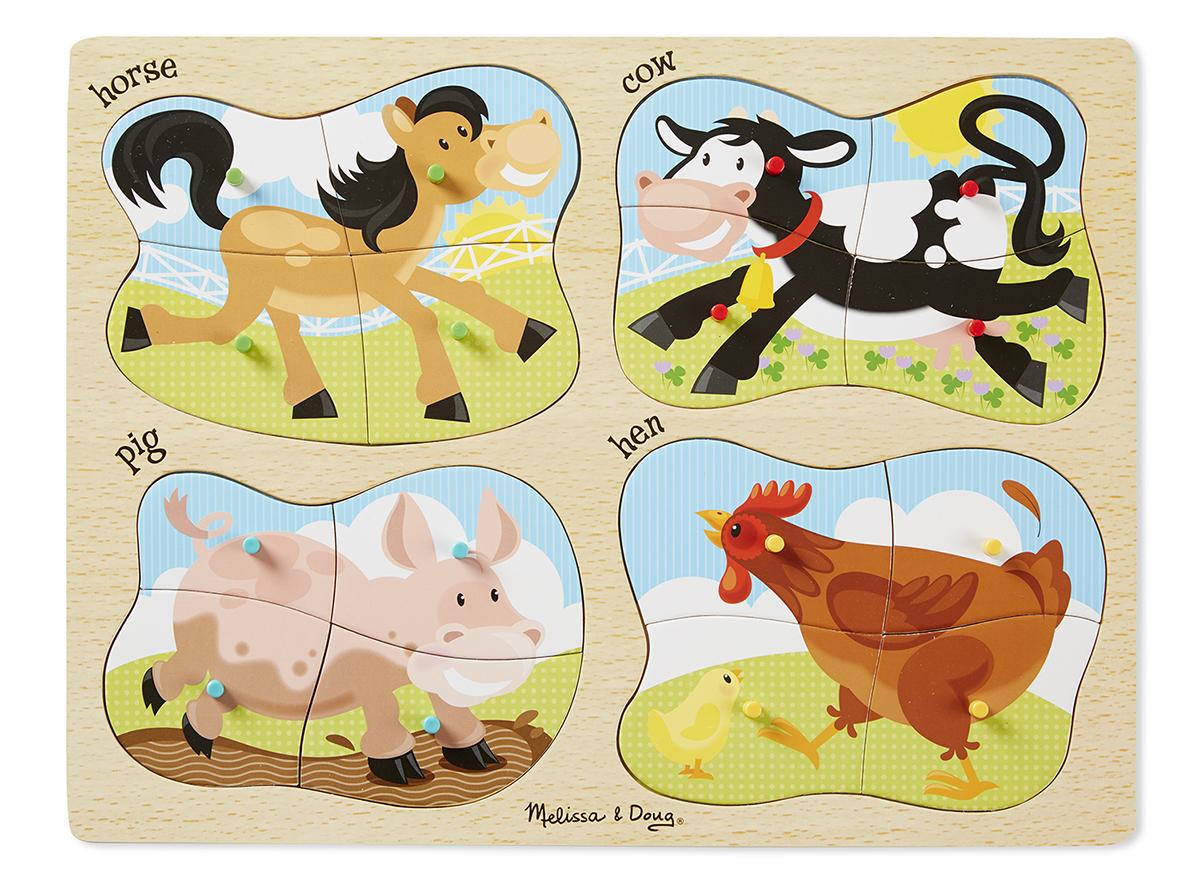 Melissa & Doug - 4-in-1 Peg Puzzle - Farm