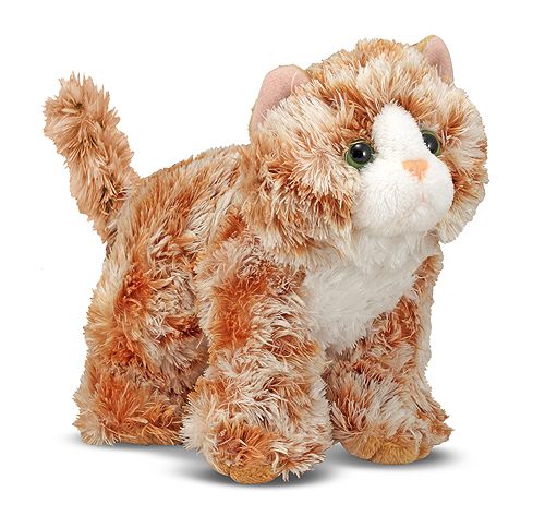 Melissa and Doug Trixie Orange Tabby Kitten Stuffed Animal