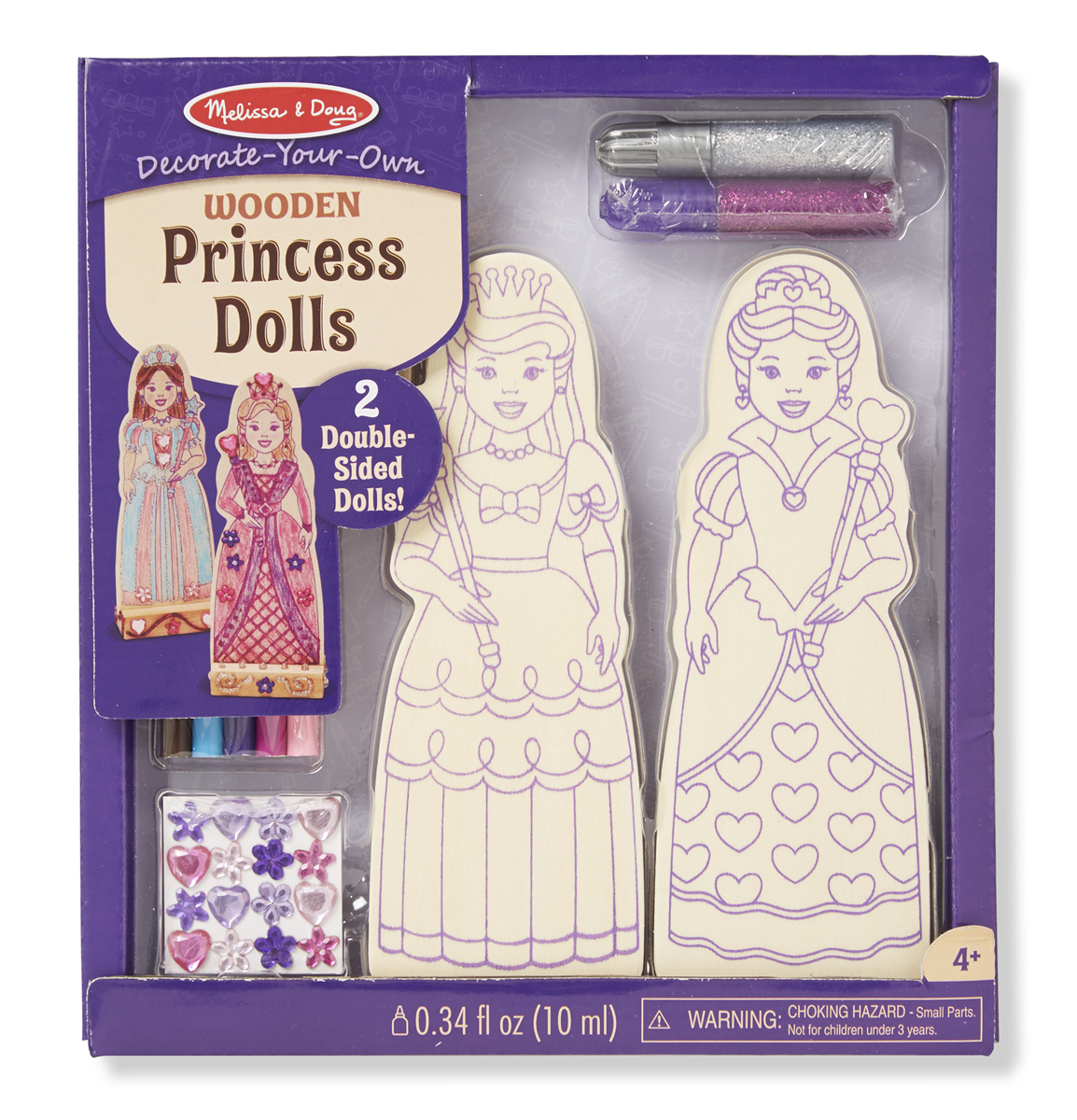 Melissa & Doug Decorate-Your-Own Wooden Princess Dolls 9525