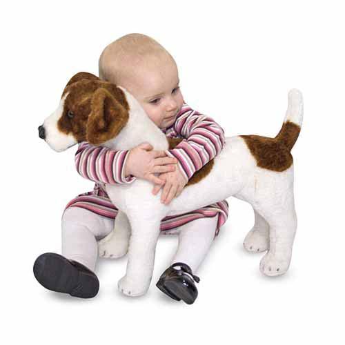 Melissa & Doug Jack Russell Terrier Dog Giant Stuffed Animal