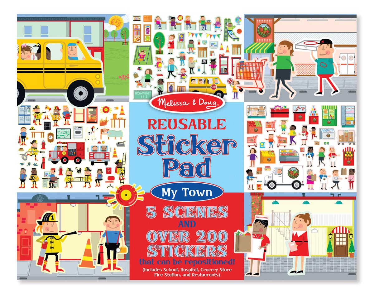 Melissa and Doug Reusable Sticker Pad - My Town