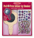 Flower Bouquet Hand Mirror Peel & Press Sticker by Number