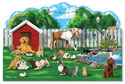 Pet Party Shaped Floor Puzzle - 32 Pieces
