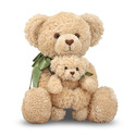 Cinnamon & Sugar Mother and Baby Teddy Bear Stuffed Animals