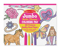 Jumbo Coloring Pad - Pink