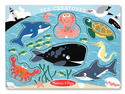 Sea Creatures Peg Puzzle - 6 Pieces