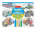 Jumbo Coloring Pad - Vehicles