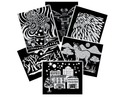 Scratch Art Pattern Paper Assortment (12 sheets)