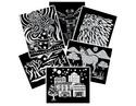 Scratch Art Pattern Paper Assortment (12 sheets)
