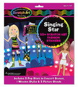 Scratch Art® Fashion Sticker Scenes - Singing Star