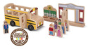 Whittle World Wooden School Bus Set