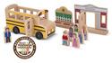 Whittle World Wooden School Bus Set