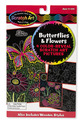 Scratch Art Color-Reveal Pictures - Butterflies & Flowers