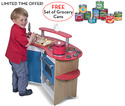 Cook's Corner Kitchen with FREE Let's Play House! Grocery Cans