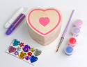 Decorate-Your-Own Wooden Heart Box