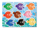 Colorful Fish Peg Puzzle - 9 Pieces