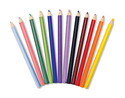 Jumbo Colored Pencils - Triangular No-Roll (12 pack)