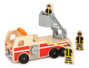 Fire Truck Wooden Toy Set