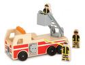 Classic Wooden Fire Truck Play Set