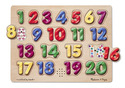 Spanish Numbers Sound Puzzle - 20 Pieces