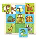 Peek-Through Pattern Puzzle Animals - 9 Pieces