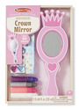 Decorate-Your-Own Wooden Crown Mirror