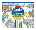 Jumbo Coloring Pad - Blue