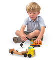 Trailer & Excavator Wooden Vehicles Play Set